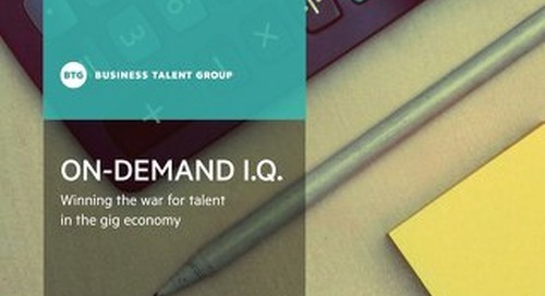 On-Demand I.Q.: Winning the war for talent in the gig economy