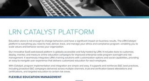 LRN's Catalyst® Platform