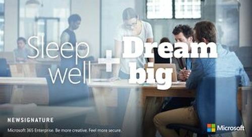 Sleep Well and Dream Big - Microsoft 365 eBook 2018
