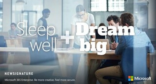 Sleep Well and Dream Big - Microsoft 365 eBook 2018