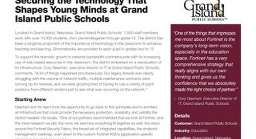 Case Study: Securing the Technology That Shapes Young Minds at Grand Island Public Schools