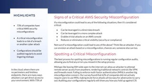 What Critical AWS Misconfigurations Look Like