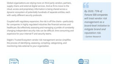 Edgile Trusted Ecosystem - Third Party Risk Management