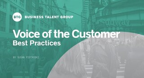 Voice of the Customer: Best Practices