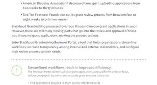 Exploring Blackbaud Grantmaking Reviewer Portal