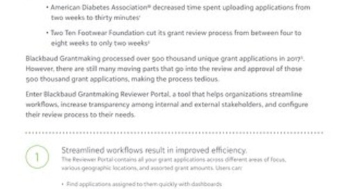 Exploring Blackbaud Grantmaking Reviewer Portal