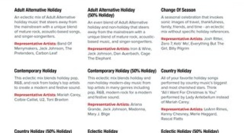 PlayNetwork Holiday Business Mixes