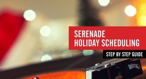 PlayNetwork Serenade Holiday Scheduling
