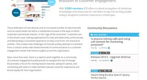Engagement Optimization: CallMiner User Community