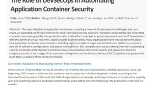 ESG Brief - Container Security