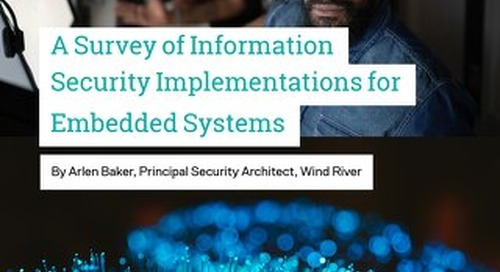 A Survey of Information Security Implementations for the Internet of Things