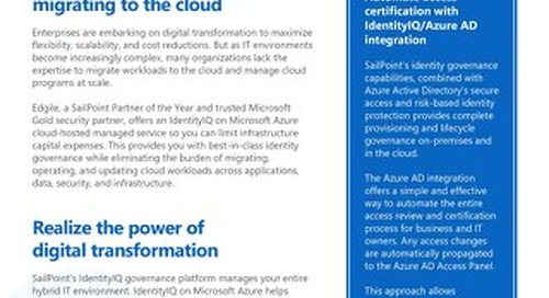 Modernize identity governance with cloud-hosted managed services