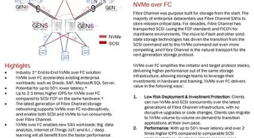 Lenovo NVMe Over Fibre Channel