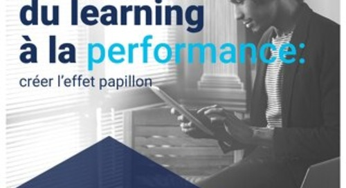 Du learning a la performance l effet papillon