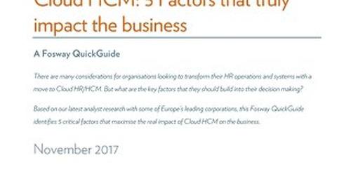 Cloud HCM - 5 Factors that truly impact the business