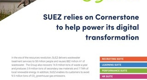 SUEZ - Suez relies on cornerstone to help power its digital transformation