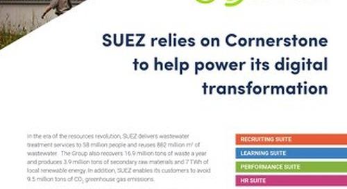 SUEZ - Suez relies on cornerstone to help power its digital transformation