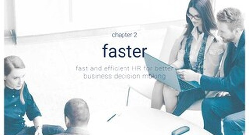 High impact HR - Chapter 2 - Faster - Fast and efficient HR for better business decision making