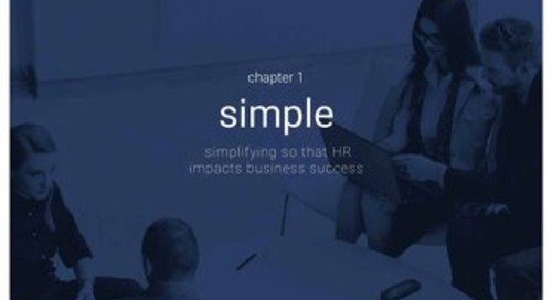High impact HR - Chapter 1 - Simple - Simplifying so that HR impacts business success
