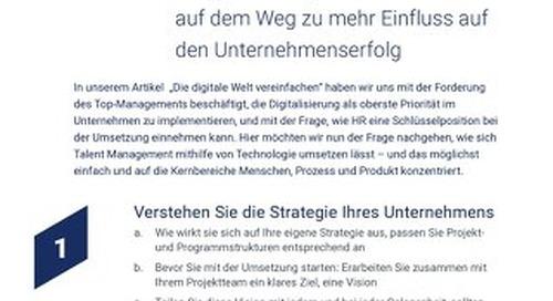 [10 Top-Tipps] Digitale Transformation mit höchster Effektivität