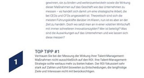 CEO, CFOS - Top Tipp - Talent management ist ihre angelegenheit