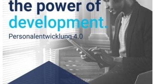The power of development - Personalentwicklung 4.0