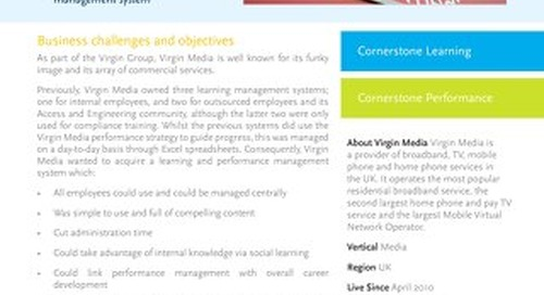 Aligning Organisation and Talent Strategies with Virgin Media