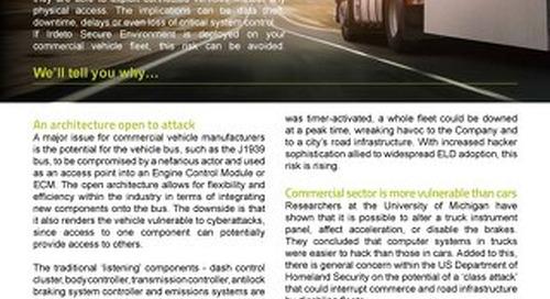 Solution overview: Trucking Cyberthreats