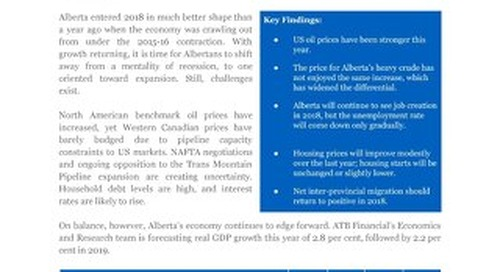 Alberta Economic Outlook (February 2018)
