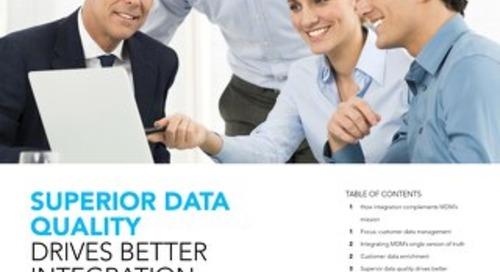 Superior Data Quality Drives Better Integration