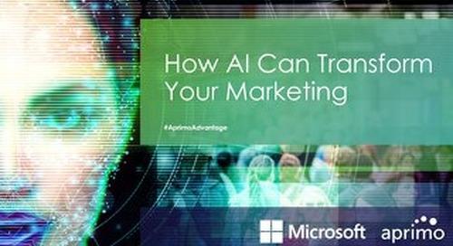 How AI Can Transform Your Marketing –Webinar Slides
