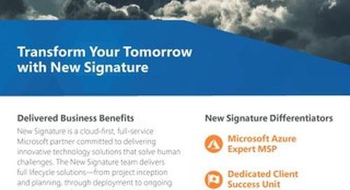 New Signature Solutions Corporate Flyer 2018 Digital