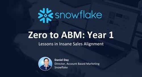 Zero to ABM: Year 1