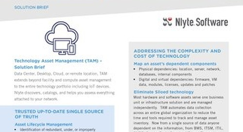 Nlyte TAM Solution Brief 8.20.18