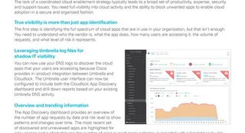 Cisco Umbrella App Discovery and Blocking