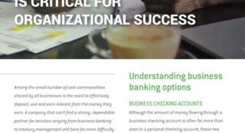 Why a Good Business Banking Partner is Critical for Organizational Success