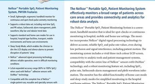 Nellcor™ Portable SpO2 Patient Monitoring System, PM10N