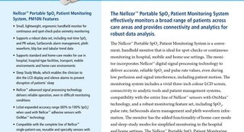 Nellcor™ Portable SpO2 Patient Monitoring System, PM10N
