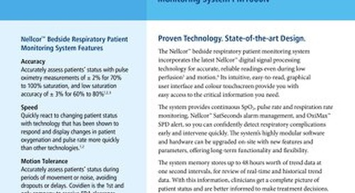 Nellcor™ Bedside Respiratory Patient Monitoring System PM1000N