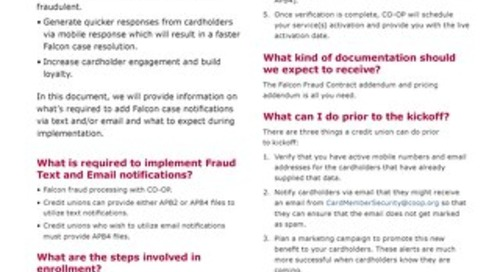 CO-OP Fraud Text & Email Notifications Startup Guide