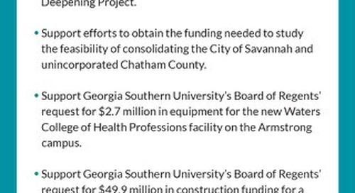 Savannah Chamber Legislative Agenda