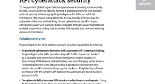 Axway and Ping Identity – API Cyberattack Security