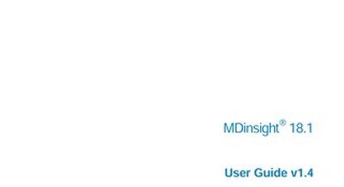 MDI User Guide