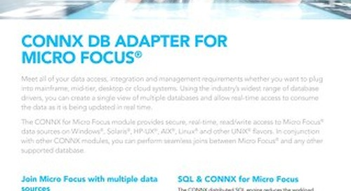 CONNX DB Adapter for Micro Focus®