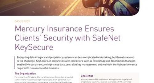 Mercury insurance with safenet keysecure