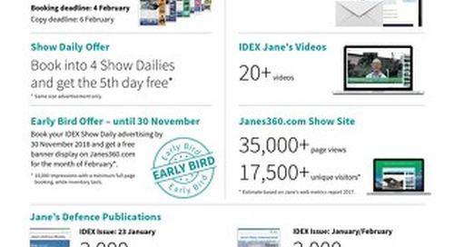 IDEX 2019 Media Kit