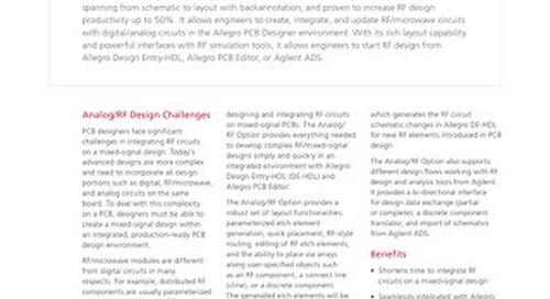 Allegro PCB Designer Analog/RF Option
