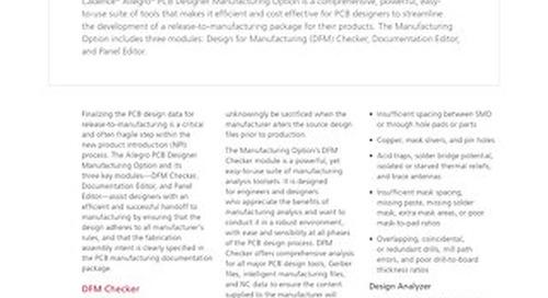 Allegro PCB Designer Manufacturing Option