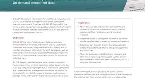 OrCAD Component Information Portal (CIP)
