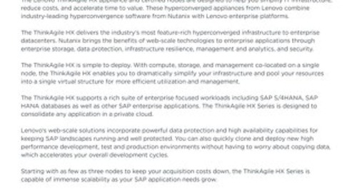 Hyperconverged Infrastructure for SAP Landscapes